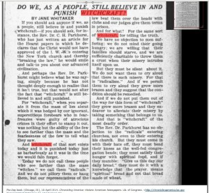 DO WE, AS A PEOPLE, STILL BELIEVE IN AND PUNISH WITCHCRAFT? BYJANEWHITAKER The Day book. (Chicago, Ill.) 1911-1917, April 18, 1914, LAST EDITION, Image 7 Image and text provided by University of Illinois at Urbana-Champaign Library, Urbana, IL